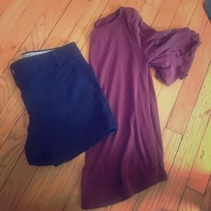 Burgundy top with cute sleeve details!